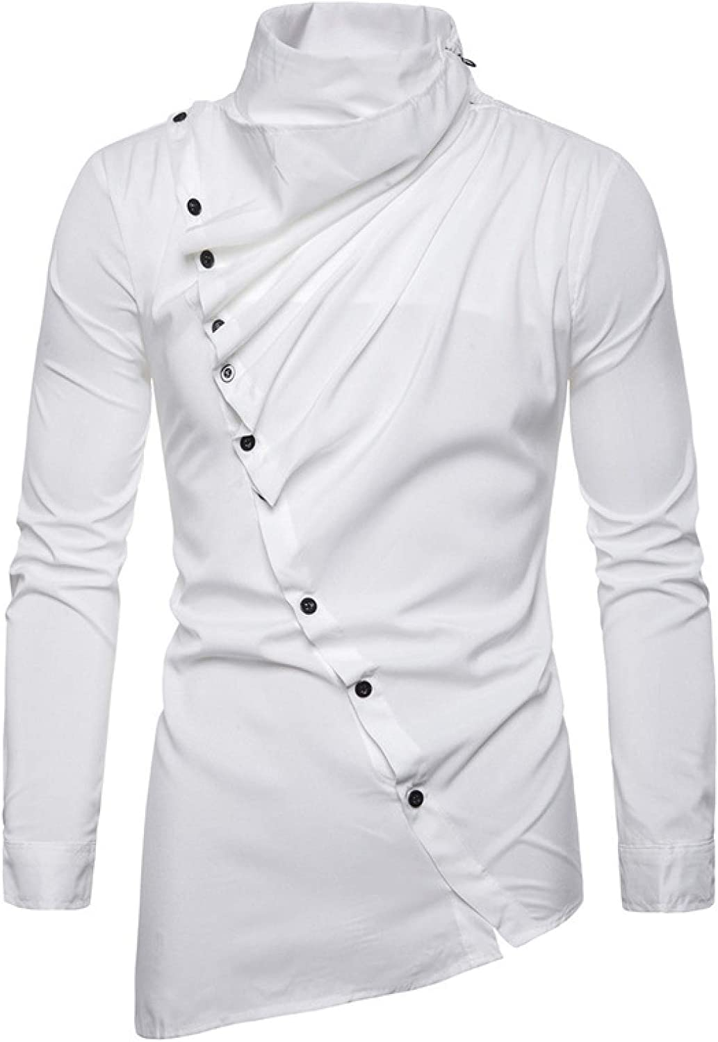 Huntrly Men's Long-Sleeved Shirts and Spring Gifts Autumn Max 69% OFF Asymmetrical