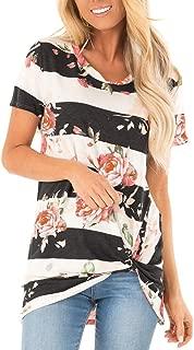 Women's Casual T Shirts Twist Knot Tunics Tops