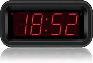 Kwanwa Travel Digital Alarm Clock Small Battery Operated LED Number Display 1.2'' Kids Teens Adults (Sparkling Version)