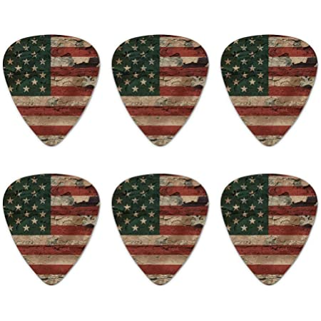 STARS AND STRIPES  FLAG   Guitar Pick  ////  Plectrum   Leather Bracelet