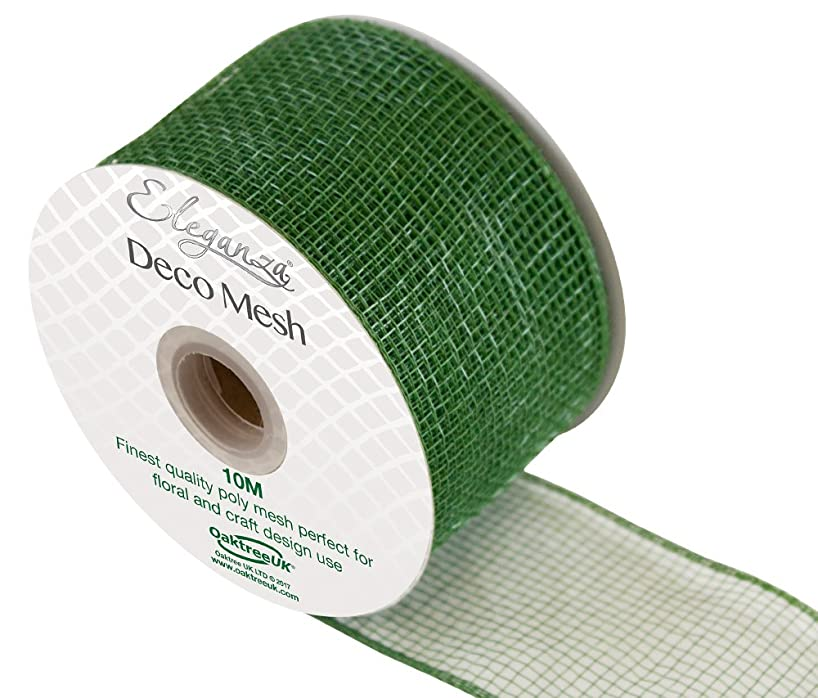 Eleganza Deco Mesh 63mm x 10m Sage Green No.51, Synthetic Material, 63 mm x 10 m