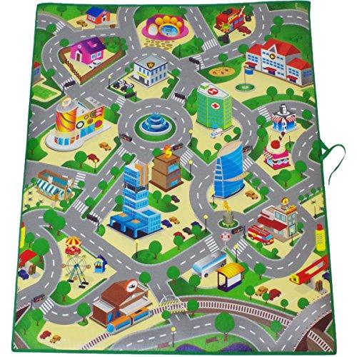 Spielmatte EVA 120x100x0,3cm Motiv Großstadt Verkehr Spielteppich