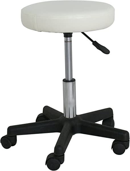 F2C Leather Adjustable Bar Stools Swivel Chairs Facial Massage Spa Salon Stool With Wheels White