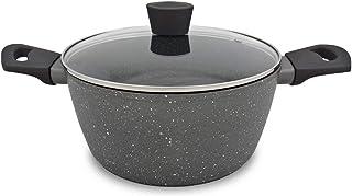 Menax - Olla de Cocina con Tapa - Modelo Focus - Aluminio Forjado - Antiadherente - 6,5 Litros