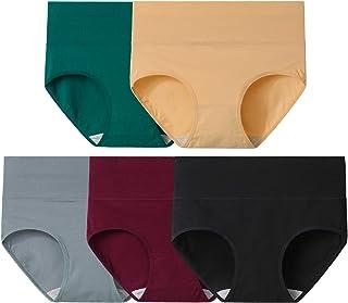 INNERSY Womens Underwear Cotton Briefs Postpartum High Waisted Panties Multi Pack