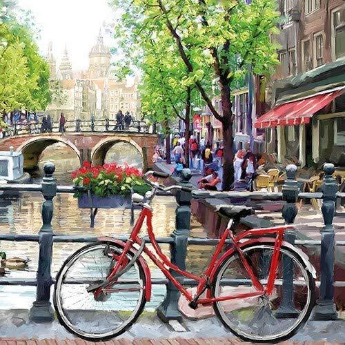 20 Servietten Amsterdam erkunden | Fahrrad | Urlaub | Niederlande 33x33cm