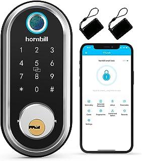 Security Smart Deadbolt, hornbill Keyless Entry Door Lock with Biometric Fingerprint, Bluetooth Electronic Smart Lock with...