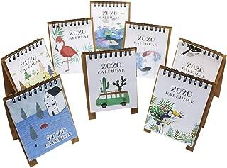 8 PCS Mini 2020 Desktop Paper Calendar Daily Scheduler Table Planner Yearly Agenda Organizer