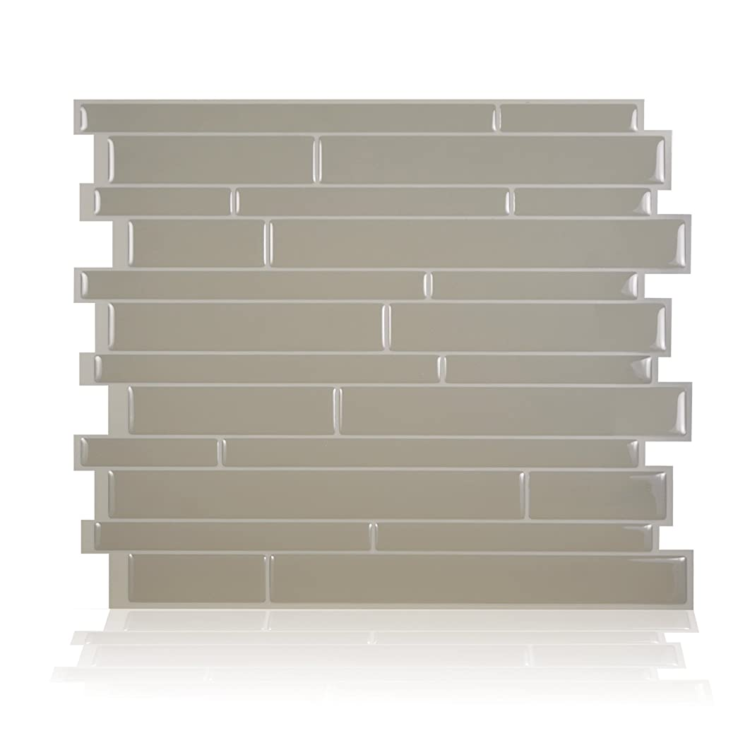 Smart Tiles Peel and Stick Backsplash and Wall Tile Milano Taupe