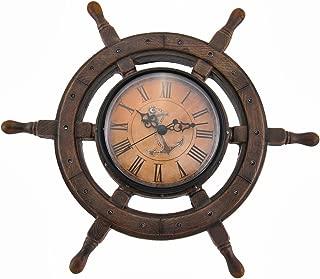 `Master of Destiny` Ship`s Wheel Nautical Wall Clock