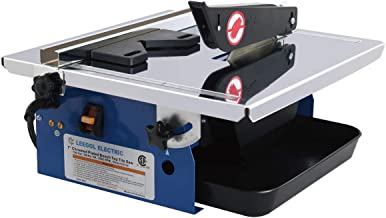 Leegol Electric 7-Inch Wet Tile Saw - Portable Wet Cutting Porcelain Tile Cutter Table Saw with Water System