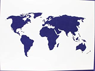 Map of The World Stencil - 18 Inch X 24 Inch