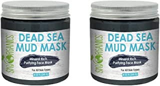 Mineral Rich Purifying Dead Sea Face Mud Mask for All Skin Types, 8 oz (Pack of 2)