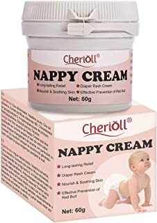 Diaper Balm,Nappy Cream, Diaper Rash Cream, Cloth Diaper Safe Herbal Ointment, Nourish & Soothing Skin, Effective Preventi...