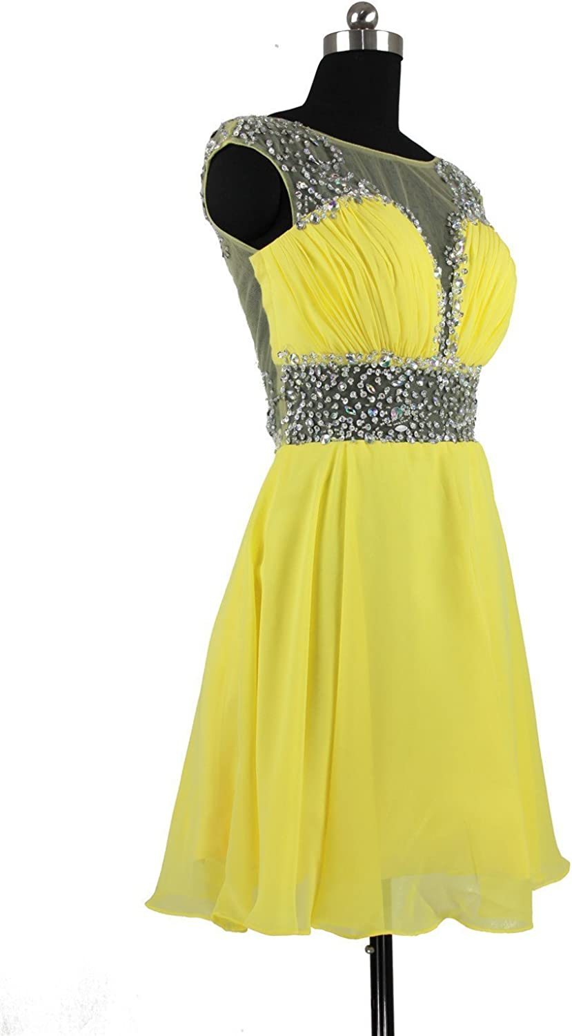 Charmingbridal Scoop Short Prom Party Dress Cocktail Homecoming Dress