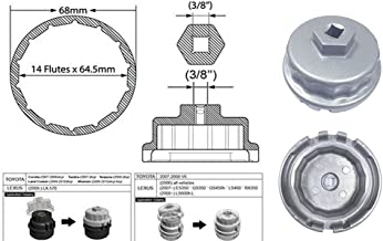 Bolaxin Silver Oil Filter Wrench for Toyota Lexus Scion Avalon Rav4 with 2.5L to 5.7L Engines Oil System Tool