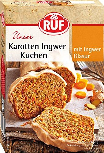 RUF KarottenKuchen mit frischen Möhren und Ingwer-Glasur, Ingwer, 510 g (4er Pack)