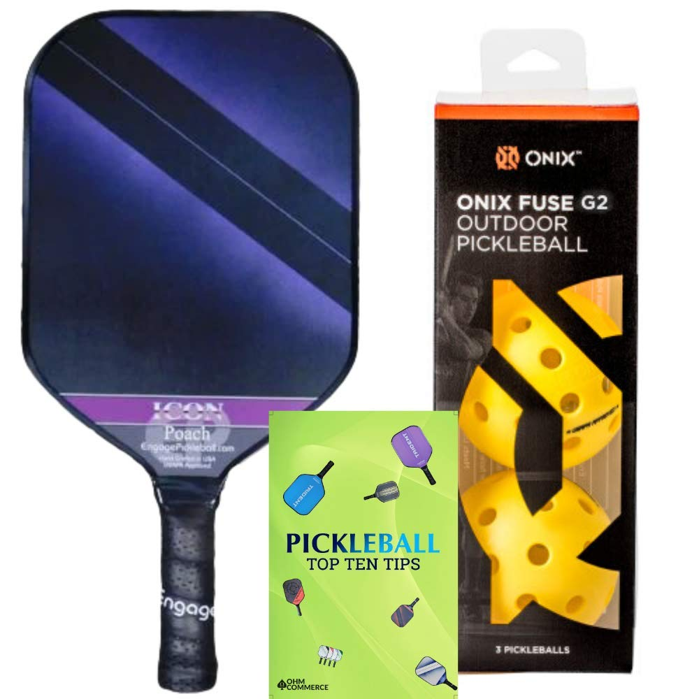 Engage Poach Icon Composite Pickleball Paddle & Onix 3 -CZPF