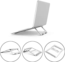 RAINBEAN Adjustable Laptop Stand, Foldable Lightweight Ventilated Laptop Riser Holder for Desk with Anti-Slip Design, Portable Bracket for Office Compatible for MacBook Pro/Air,Dell,Support up to 18""