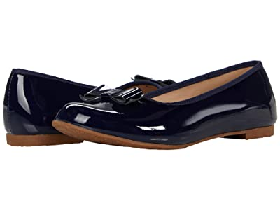 Elephantito Camille Flats (Toddler/Little Kid/Big Kid) (Patent Navy) Girls Shoes