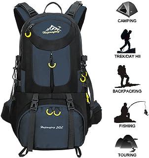 Mochila de 50 l para actividades al aire libre, bolsa impermeable, gran capacidad, duradera, para viajes, ligera, impermeable, para senderismo