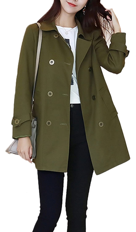 [スゴフィ]SGFY レディース スプリングコート ジャケット トレンチコート 上着 春 秋 アウター 通勤 おしゃれ 2色選べる