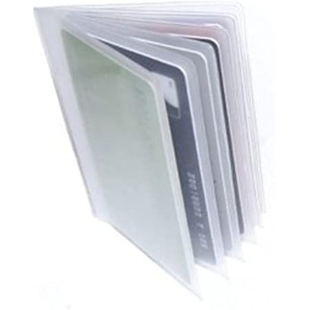 Replacement Plastic Credit Card Purse/Wallet Insert Sleeves (1 x 6 Card Portrait)