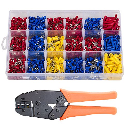 oxoxo 280pcs Crimp Electrical Connectors Insulated Spade Set With Professional Insulated Wire terminali connettori ratcheting Crimper tool For 22–10AWG