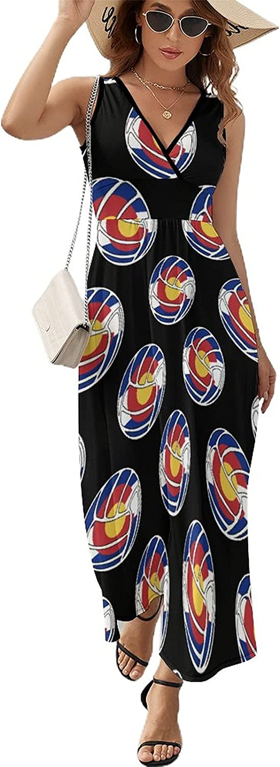 BAIKUTOUAN Volleyball New product!! sold out Colorado Flag Long Dress Women Summer for