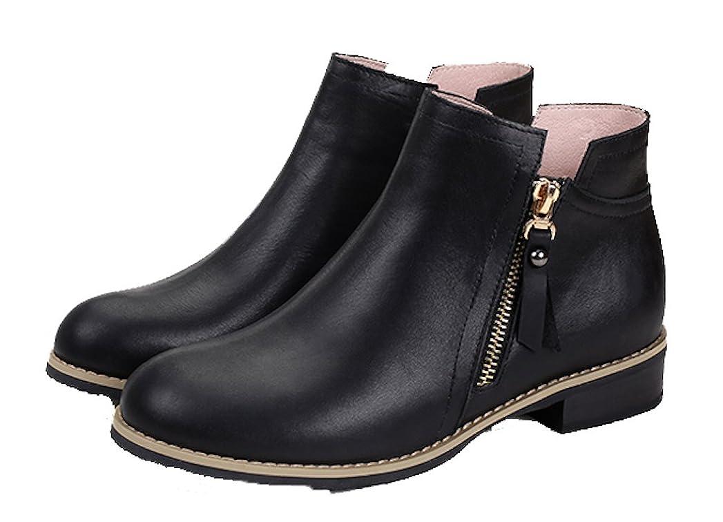 プレビューコミットメントオープナーウォーキングシューズ ブーツ レディース 革 レザー ビジネスシューズ 革靴 軽量 カジュアル (23.5, ブラウン)