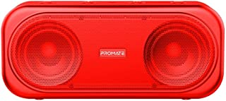 Promate 6959144046259 Powerful 10W True Wireless Bluetooth V5.0 Stereo Speaker with Built-In Mic, Otic Red