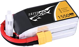 Tattu LiPo Battery Pack 1550mAh 75C 4S 14.8V with XT60 Plug for RC Boat Heli Airplane UAV Drone FPV