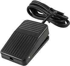 SODIAL(R) AC 250V 10A SPDT NO NC Antideslizante plastico de momentanea de alimentacion Interruptor de pedal Negro