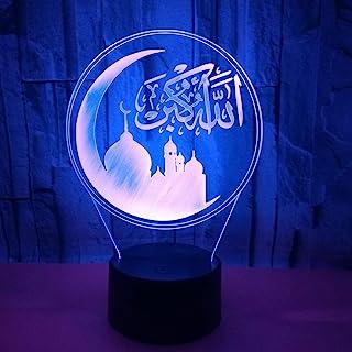 Islam Islamique 3D LED Lampe Art Déco Lampe LED Lampes Touch Control 7 Couleurs Change Veilleuse USB Powered Enfants Cadea...