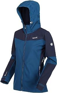 Regatta DeSoto VI Women's Breathable Softshell Jacket with Underarm Ventilation and Detachable Soft Shell Hood, Blue Opal/...