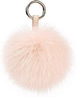 464acecf3bb3 Genuine Fox Fur Pom Pom Keychain Bag Purse Charm large Fluffy Fur Ball  Keychains