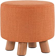 Comfortable Sofa Stool Household Cotton and Linen Simple Bedroom Living Room Dining Room Bench Lazy Shoes Practical (Color...