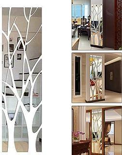 ZUNBO - Sticker mural effet miroir avec motif arbres en 3D