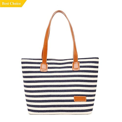 38f99ecec Lee Womens Canvas Handbag Handmade Stripes Purse Tote Shoulder Bag