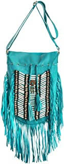 Boho Bag Round L | Real Leather | Fringe Purse | Bohemian Bags