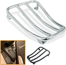 QIDIAN Motorcycle Foot Pedal Rear Luggage Rack Bracket Holder for VESPA GTS 300 GTS300 2017 2018 2019 (Silver)