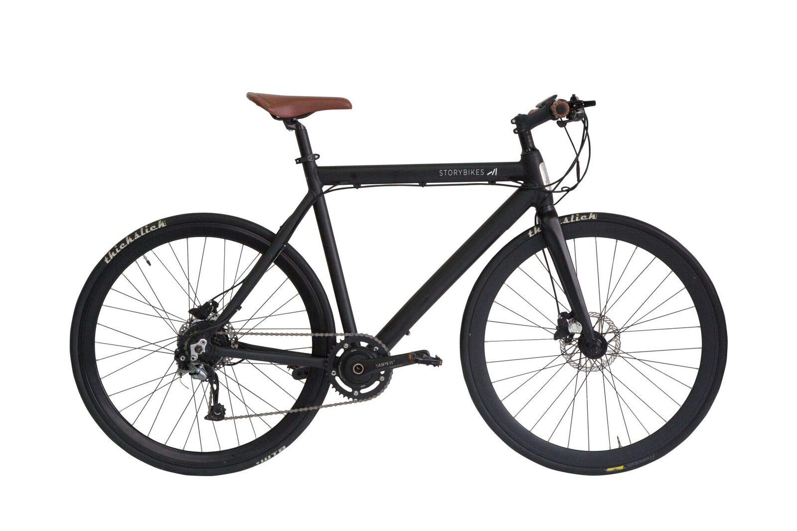 Bicicleta eléctrica Story - eBike con motor electrónico inteligente de 350 W, batería de litio oculta, puerto