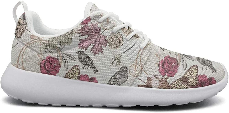 Ipdterty Wear-Resistant Sports Sneaker Flower Vintage Camera Women Soft Track Running shoes