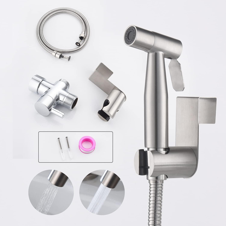 SISEHO Toilet Bidet Sprayer Indefinitely Steel Indefinitely Bathroom Stainless Hand