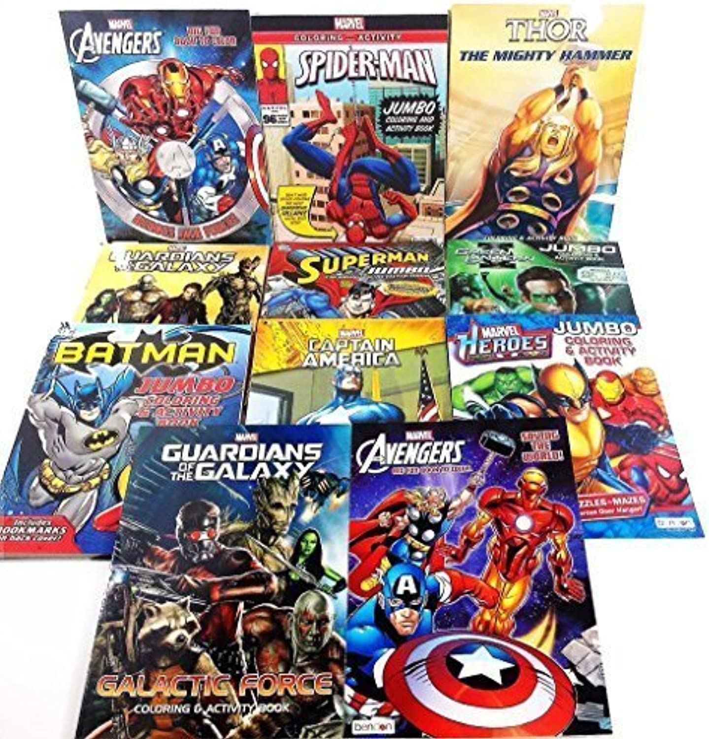 tienda en linea 11 Pack Pack Pack DC & Marvel Assorted Coloring & Activity Books Batman Spiderman by Bendon Publishing Intl  envío gratuito a nivel mundial