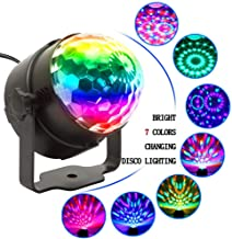 Car Crystal Magic Ball Stage Light for Outdoor Party Wedding Birthday Camping Activities, Color Changes RGB Sound Actived LED Lights Disco DJ Effect Lamp