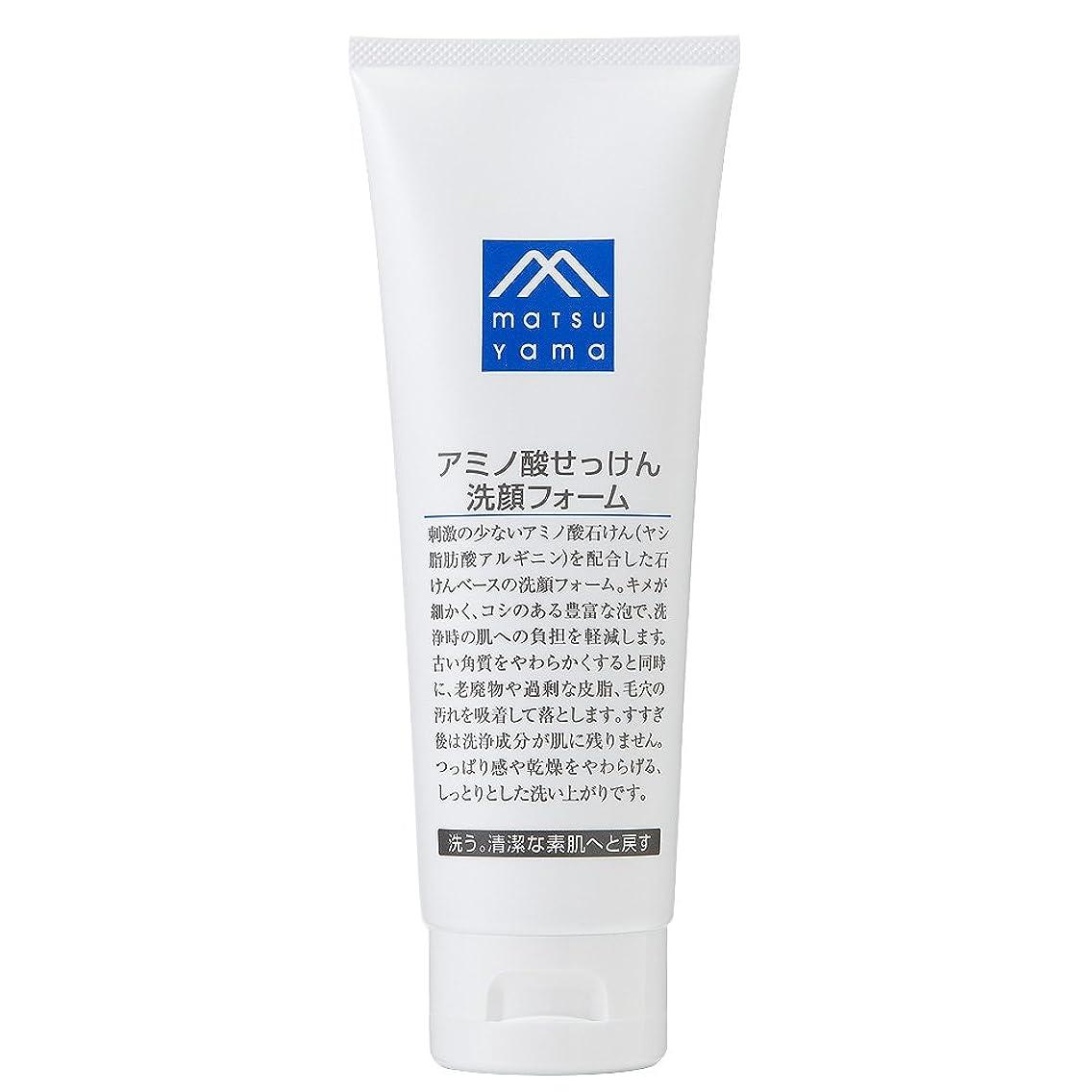 ヒゲ押すステッチM-mark アミノ酸せっけん洗顔フォーム
