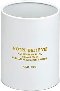 Winfred Pot Ustensiles Cuisine, 10 x 13 cm Porte Ustensiles Rangement Couverts Rond en Acier Inoxydable Drainer pour Bague...
