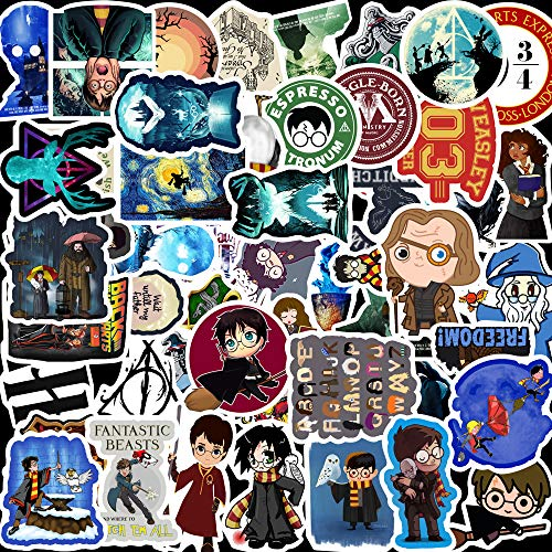 QUU HARR_y Pott_er Stickers 100 Pack Vinyl Waterproof Decals for Laptop Decorations for Birthday Party Supplies