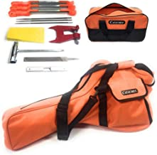 Cataumet Chainsaw Sharpener Kit and Chainsaw Carrying Case Bag Includes 3 Round Files Sizes 5/32